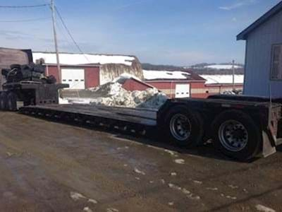 1995 Fontaine 48x102 Double Drop Deck Trailer, RGN, Closed Axle