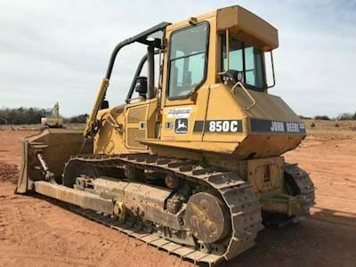 1999 John Deere 850C Dozer -  Hours 5,536, 185 HP, 4 Way Blade,  A/C and Heat