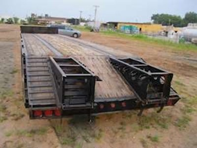 2002 Jet 48x102 Drop Deck Trailer, Tri Axle, Beavertail & Ramps