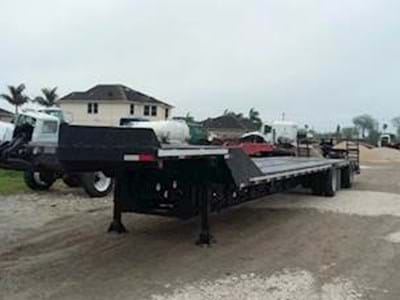 1990 Transcraft 53x102 Beaver Tail & Ramp Trailer