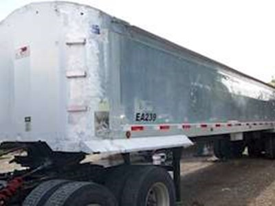 2007 Travis 38x96x60 End Dump Trailer, Aluminum, Frameless, Closed Axle