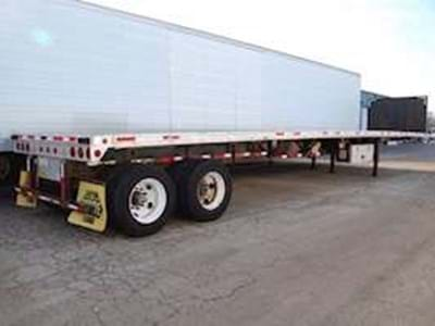 2005 Fontaine 48x102 Flatbed Trailer, Combo, Sliding Axle, ZX11