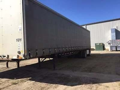 1999 Transcraft 48x102 Curtain Side Trailer, Spread Axle, 22.5 Tires