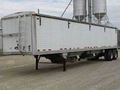 2004 Timpte 42x102x84 Grain Hopper Trailer, Aluminum, Closed Axle