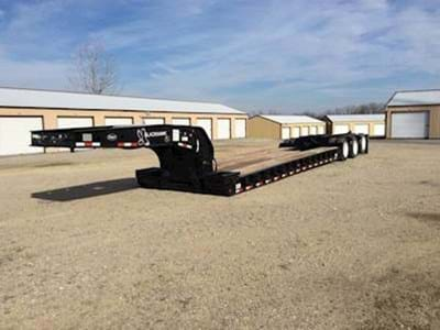 2008 Etnyre 55 Ton Lowboy Trailer, Hydraulic Detach, Non-Ground Bearing, Pony Motor