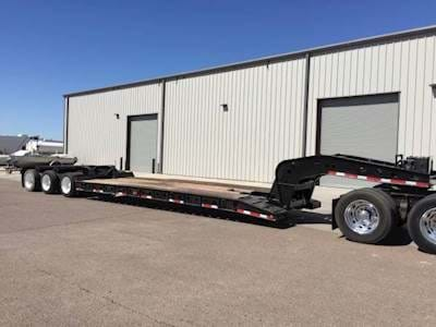 1999 Fontaine 55 Ton Lowboy Trailer, Hydraulic Detach, Tri Axle, Pony Motor, Non-Ground Bearing