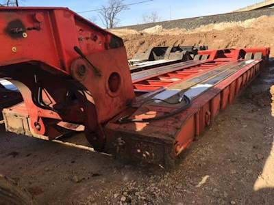 1986 Trail King 48x96 Lowboy Trailer, 50 Ton, Tri Axle, Hydraulic Detach