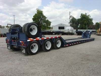 2012 Trail King 52x102 Lowboy Trailer, Quad Axle, Hydraulic RGN, Non-Ground Bearing