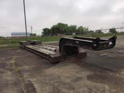 2005 XL Specialized 53x102 Lowboy Trailer, Mechanical Detach, Tri Axle, 55 Ton, Extendable