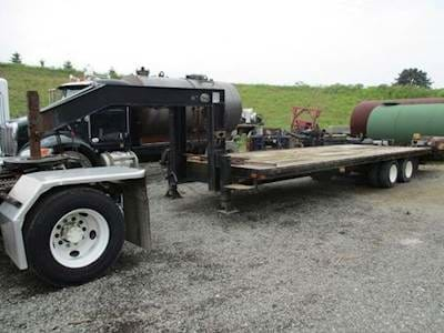1998 Corn Pro 24ft Utility Trailer - Wood Floor, Easy Lift Ramps, Tandem Axle