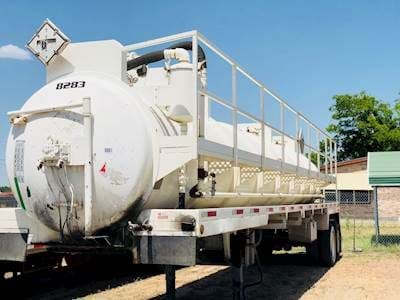 2010 Overland 135bbl Vacuum Tank Trailer - Code Trailers, Fruitland Pump on Trailer